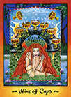 Nine of Cups Tarot card in Faerie Tarot deck