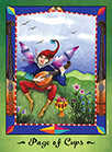 Page of Cups Tarot card in Faerie Tarot deck