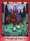 Knight of Cups Tarot card in Faerie Tarot Tarot deck