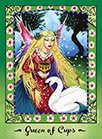Queen of Cups Tarot card in Faerie Tarot Tarot deck