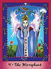 The Hierophant Tarot card in Faerie Tarot deck