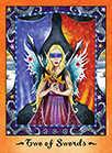 Two of Swords Tarot card in Faerie Tarot Tarot deck