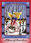 Three of Swords Tarot card in Faerie Tarot Tarot deck