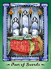 Four of Swords Tarot card in Faerie Tarot Tarot deck