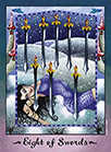 Eight of Swords Tarot card in Faerie Tarot deck