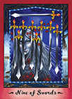 Nine of Swords Tarot card in Faerie Tarot Tarot deck