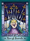 Ten of Swords Tarot card in Faerie Tarot deck