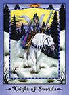 Knight of Swords Tarot card in Faerie Tarot deck