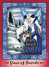 Queen of Swords Tarot card in Faerie Tarot deck