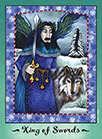 King of Swords Tarot card in Faerie Tarot deck