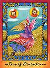 Two of Coins Tarot card in Faerie Tarot deck