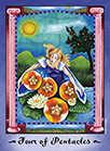 Four of Coins Tarot card in Faerie Tarot deck