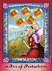 Five of Coins Tarot card in Faerie Tarot Tarot deck