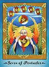 Seven of Coins Tarot card in Faerie Tarot Tarot deck