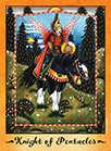 Knight of Coins Tarot card in Faerie Tarot Tarot deck