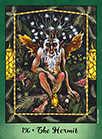 The Hermit Tarot card in Faerie Tarot deck