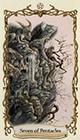 fantastical-creatures - Seven of Pentacles