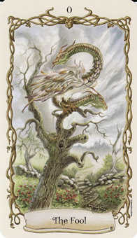 The Fool Tarot Card - Fantastical Creatures Tarot Deck
