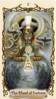 The Wheel of Fortune Tarot Card - Fantastical Creatures Tarot Deck