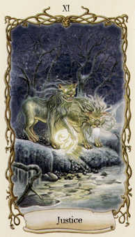 Justice Tarot Card - Fantastical Creatures Tarot Deck