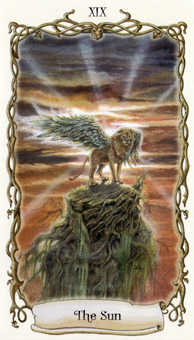 The Sun Tarot Card - Fantastical Creatures Tarot Deck