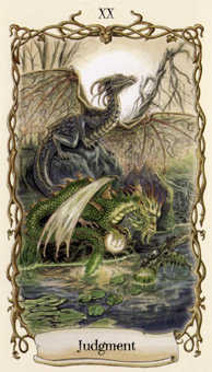The Judgment Tarot Card - Fantastical Creatures Tarot Deck