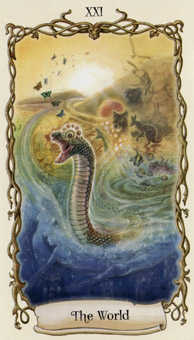 The World Tarot Card - Fantastical Creatures Tarot Deck