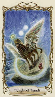 Knight of Rods Tarot Card - Fantastical Creatures Tarot Deck