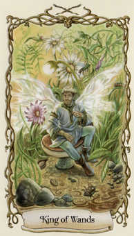 King of Wands Tarot Card - Fantastical Creatures Tarot Deck