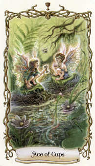 Ace of Cups Tarot Card - Fantastical Creatures Tarot Deck