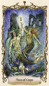 Two of Hearts Tarot Card - Fantastical Creatures Tarot Deck