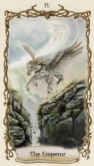 The Emperor Tarot Card - Fantastical Creatures Tarot Deck
