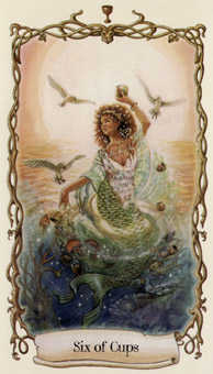 Six of Cups Tarot Card - Fantastical Creatures Tarot Deck
