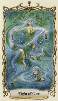Eight of Cups Tarot Card - Fantastical Creatures Tarot Deck