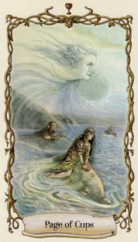Valet of Cups Tarot Card - Fantastical Creatures Tarot Deck