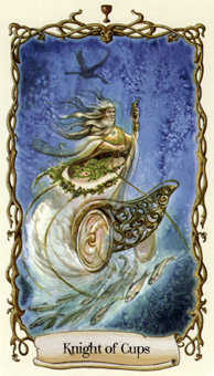 Warrior of Cups Tarot Card - Fantastical Creatures Tarot Deck