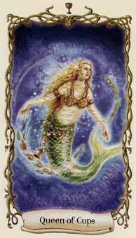 Queen of Cups Tarot Card - Fantastical Creatures Tarot Deck