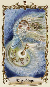King of Cups Tarot Card - Fantastical Creatures Tarot Deck