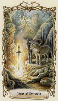Ace of Swords Tarot Card - Fantastical Creatures Tarot Deck
