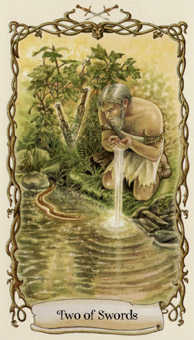 Two of Swords Tarot Card - Fantastical Creatures Tarot Deck