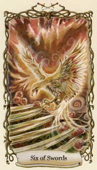 Six of Wind Tarot Card - Fantastical Creatures Tarot Deck