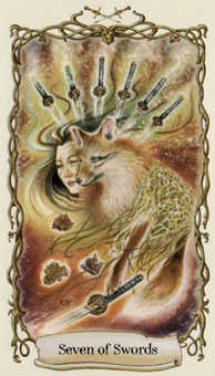 Seven of Arrows Tarot Card - Fantastical Creatures Tarot Deck