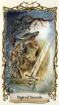 Page of Swords Tarot Card - Fantastical Creatures Tarot Deck