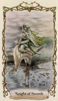 Cavalier of Swords Tarot Card - Fantastical Creatures Tarot Deck