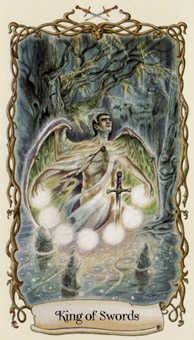 Roi of Swords Tarot Card - Fantastical Creatures Tarot Deck