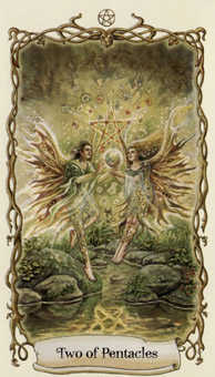 Two of Coins Tarot Card - Fantastical Creatures Tarot Deck