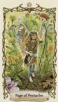 Page of Discs Tarot Card - Fantastical Creatures Tarot Deck
