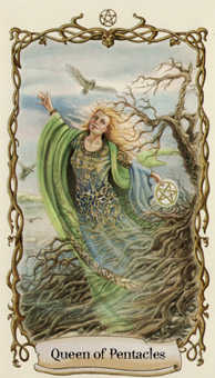 Reine of Coins Tarot Card - Fantastical Creatures Tarot Deck