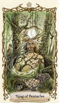 King of Pentacles Tarot Card - Fantastical Creatures Tarot Deck