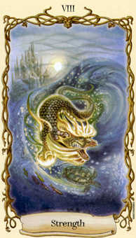 Strength Tarot Card - Fantastical Creatures Tarot Deck